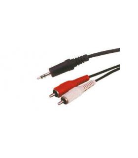 Cablu Jack stereo 3.5 la 2x RCA 15m Cabletech