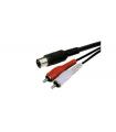 Cablu 5 Din la 2x RCA 1.5m Cabletech
