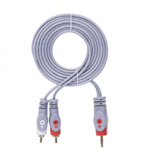 Cablu audio Jack 3.5 stereo - 2x RCA 3m Cabletech