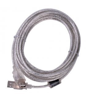 Cablu prelungitor USB 2.0 ecranat 5m Cabletech