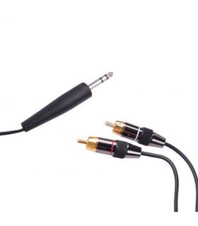 Cablu Jack 6.3mm la 2x RCA 1.8m Cabletech