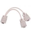 Cablu adaptor VGA la 2 VGA mama Cabletech