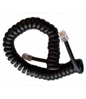 Cablu telefonic RJ10 spiralat 2.1m negru