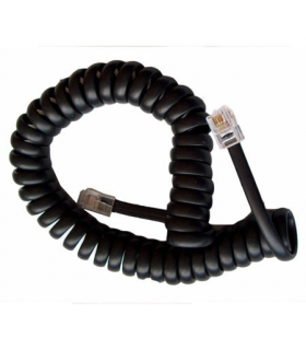 Cablu telefonic RJ10 spiralat 4.2m negru
