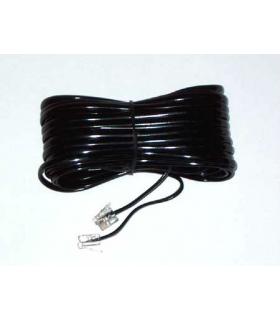 Cablu telefon extensie negru 10m RJ11