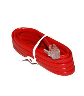 Cablu extensie telefonic rosu 2m RJ11