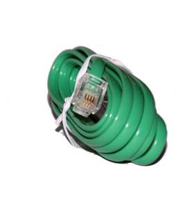 Cablu extensie telefonic verde 2m RJ11