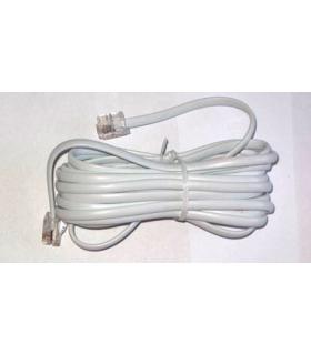 Cablu telefon RJ11 2m alb