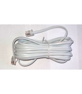 Cablu telefon extensie 3m RJ11 alb