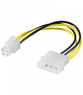 Cablu adaptor molex 5.25 la P4 Pini pentru alimentare PC Goobay