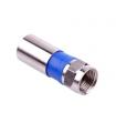 Mufa F compresie pentru cablu coaxial 6.8mm