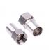 Mufa F compresie pentru cablu coaxial cu diametrul de 6.8mm