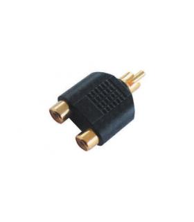 Adaptor RCA la 2x RCA mama aurit Cabletech