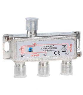 Spliter 3 iesiri cu Power Pass 5-2450Mhz Cabletech