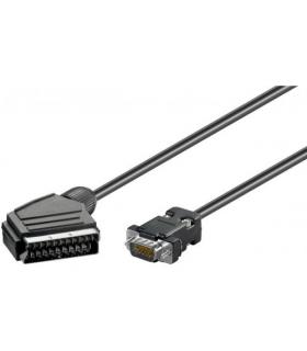 Cablu SCART la VGA 15 pini monitor 5m Goobay