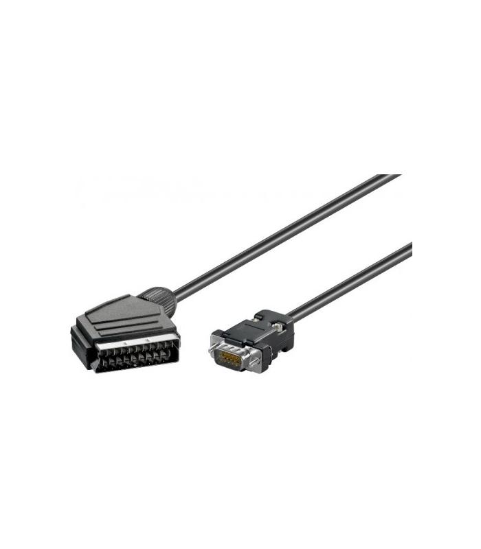 Cablu Scart la Vga 7.5m Goobay