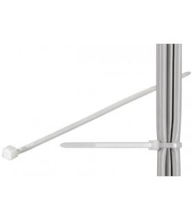 Coliere plastic de strangere cabluri 200x2.5mm transparent fixPoint
