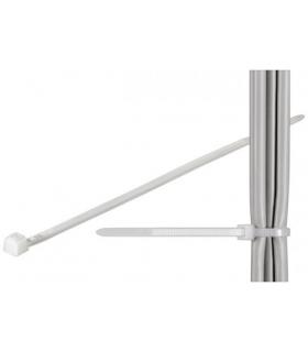 Coliere plastic strangere cabluri 280x4.8mm transparent fixPoint