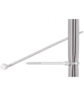 Coliere plastic de strangere cabluri 365x3.5mm transparent interior-exterior 100buc Goobay