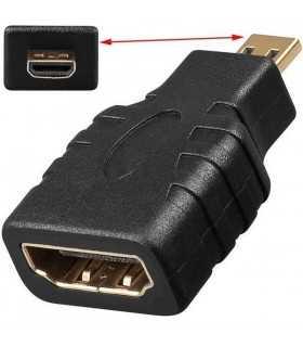 Adaptor micro HDMI la HDMI mama Goobay