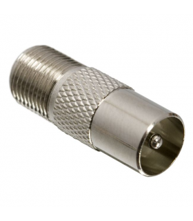 Adaptor coaxial mama F la tata tv coaxial pin aurit
