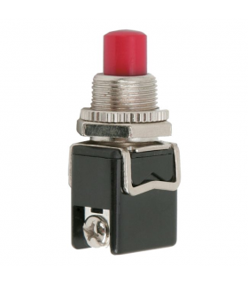Buton 1 circuit 4A 250V ON-OFF fara retinere rosu