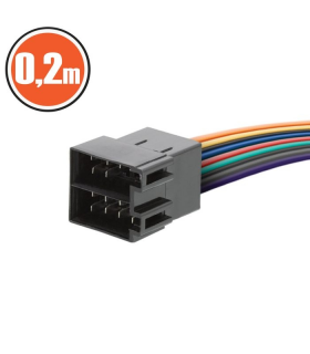 Cablu auto mufa tata pentru mufe ISO 0.2m