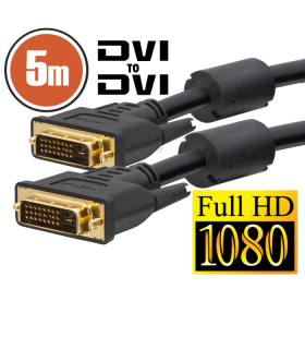 Cablu Dvi dual-link 5m aurit