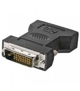 Adaptor DVI-I 24+5 mama la DVI-D 24+1 tata Goobay