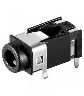 Mufa Jack 3.5mm 4 contacte 4 pini stereo mama pe placa Goobay