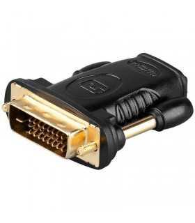 Adaptor DVI-D 24+1 la HDMI mama aurit Goobay