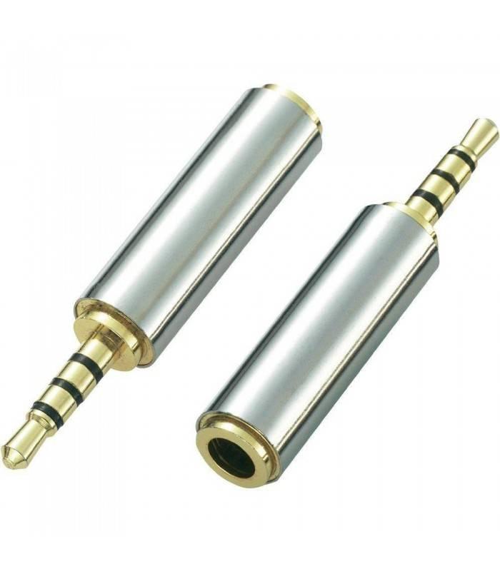 Adaptor Jack 4 pin 2.5 tata la 4pin 3.5 mama metal