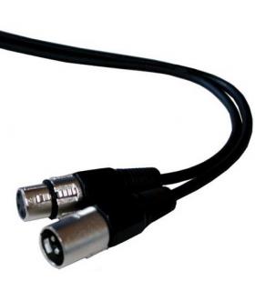 Cablu prelungitor XLR tata la XLR mama 1.5m ibiza