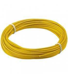 Cablu cupru multifilar izolat 10m galben 1x0.14mm Goobay