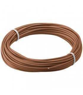 Cablu cupru multifilar izolat 10m maro 1x0.14mm Goobay