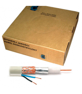 Cablu coaxial RG59 si 2x0.35mm Cabletech