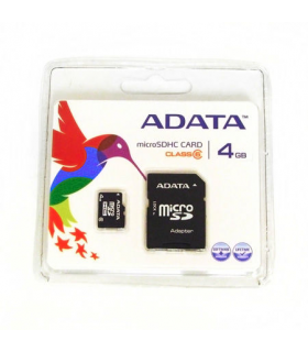 Card micro SD 4GB cu adaptor SD ADATA
