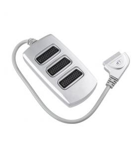Cablu adaptor Scart Box cu 3 cai Scart 21 pini mama