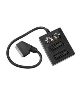 Cablu adaptor Scart Box la 3x RCA si Svhs cu intrerupator