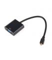 Cablu adaptor micro HDMI la VGA mama si audio