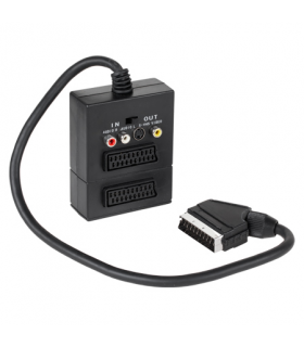 Cablu adaptor Scart Box 2x Scart mama si 3x RCA si Svhs EDC