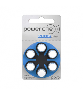 Baterii auditive P675 implant plus Power One