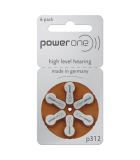 Baterii auditive P312 Power One 6buc