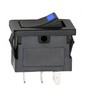 Interupator basculant 1 circuit OFF-ON LED albastru 12V 15A cu retinere 09027KE