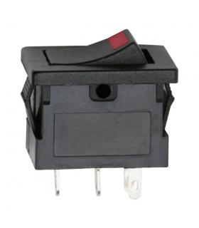 Interupator basculant 1 circuit OFF-ON LED rosu 12V 15A cu retinere