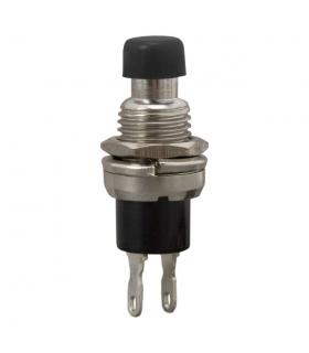 Buton 1 circuit 12VDC on-off negru