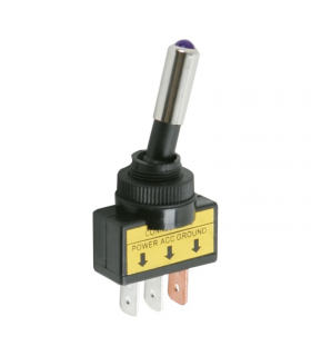 Comutator cu brat 1 circuit 20A 12V OFF-ON cu LED violet