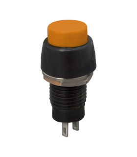 Buton 1 circuit 2A 250V OFF-ON fara retinere portocaliu