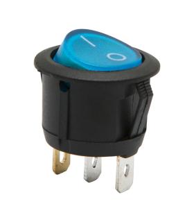 Interupator basculant 1 circuit ON-OFF 6A-250V albastru 09085BL cu retinere