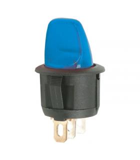 Comutator cu brat 1 circuit OFF-ON 6A 250V albastru